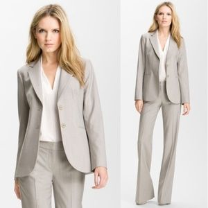 Theory • Rory Tailor Two Button Wool Blazer Grey